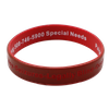 Customized 12mm Color Coated Silicone Bracelets