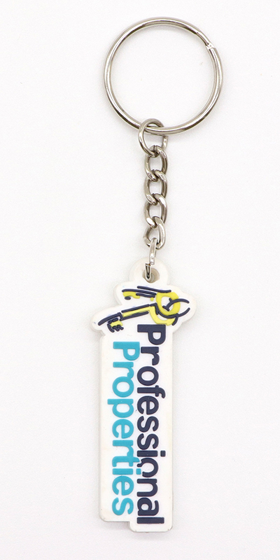Promotional gifts with logo rubber key chain/ custom key tag/ Customized PVC key chain with logo