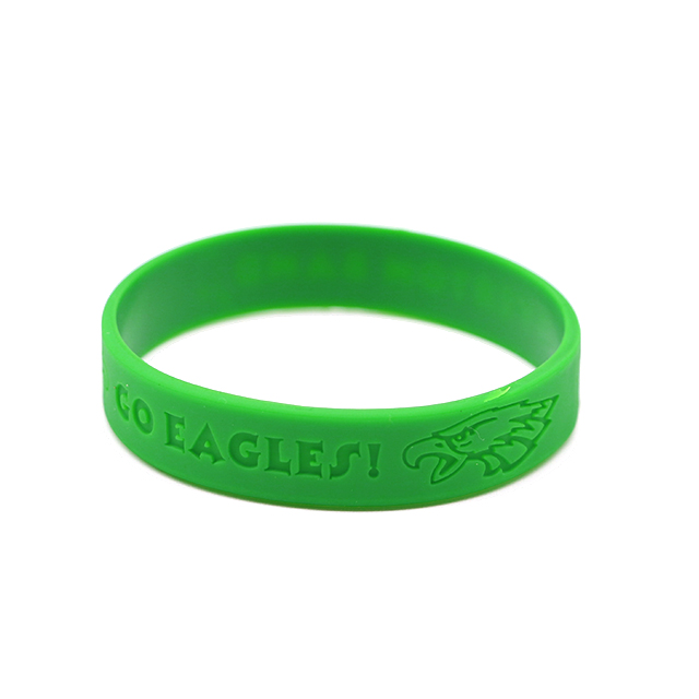 Skyee promotional gifts give away rubber band bracelets Debossed silicone wristband