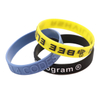 skyee Custom Embossed With Printed Hand Band cheap Printed Silicone Wristband silicone Bracelet Manufacturer