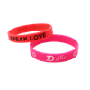 Skyee Your Logo/Color Wristband Custom Debossed Ink Filled Silicone Rubber bracelet