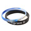 Skyee Customized Design Color Embossed Printed Logo Silicone Wristband Silicone Bracelets
