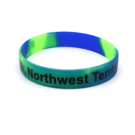 Skyee Promotion Mix Color Printed Silicone Rubber Wristbands