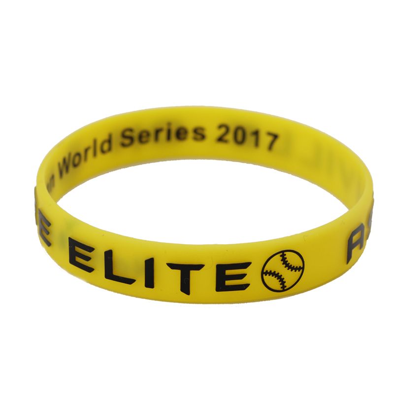 skyee Custom Embossed printed Logo Silicone bracelet Promotional Sport Silicone Wristband