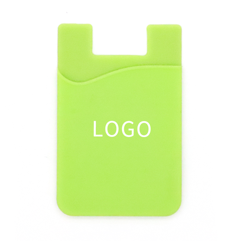 Promotional Gifts Customized Logo Printing Silicone Mobile Phone Card Holder