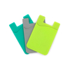 Customizable High Quality Silicone Card Holder 3m Adhesive back on phone card wallet