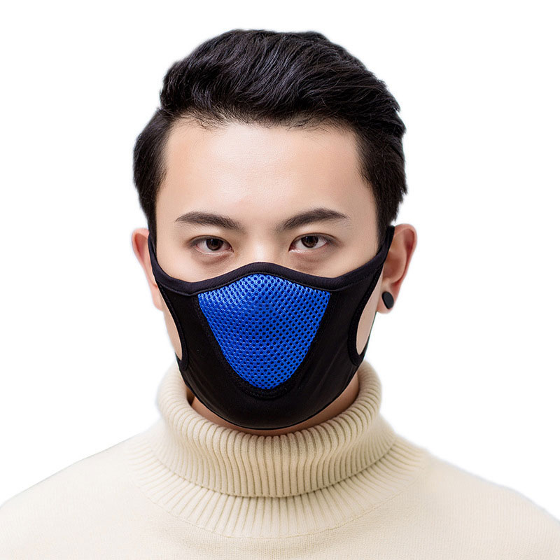 Fashionable outdoor cycling dust protection breathable black mask