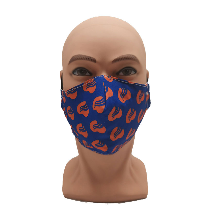 Custom printing reusable fabric cotton mouth face mask
