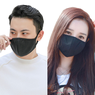 Stylish anti dust black non medical white winter face mask for men and women